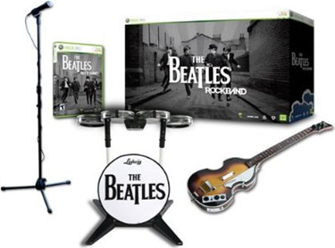 Wii the beatles: rock band limited edition premium bundle by mtv.